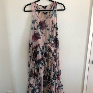 High low ruffle maxi dress